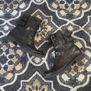 G By Guess | Brown Combat Boots
